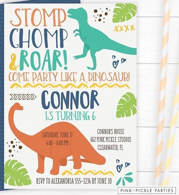 Free Printable Dinosaur Invitation Template Dinosaur Birthday Party Invitations Dinosaur Invitations Birthday Invitations Kids