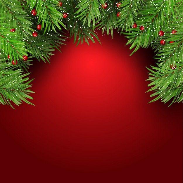decoraci u00f3n navide u00f1a  fondo rojo vector gratis