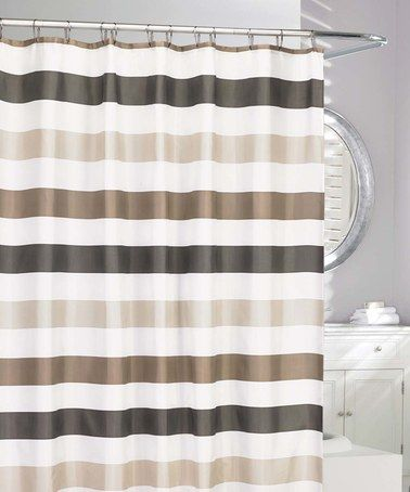 Look at this #zulilyfind! Neutral & Brown Stripe Cabana Shower Curtain #zulilyfinds