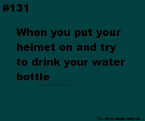 And forget that there is a face mask on the helmet... And so u end up slamming the bottle into the mask, and looking like an idiot. But u learn to live with it...