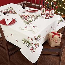 Craftways® Christmas Pyramid Table Linens Stamped Cr...