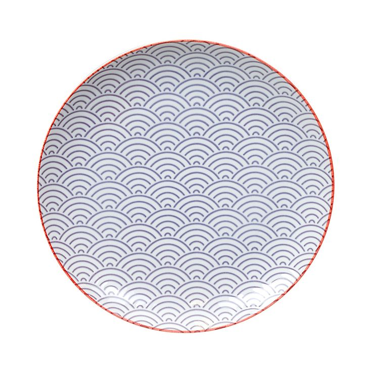 Discover the Tokyo Design Studio Starwave Dinner Plate - Large Wave - Purple/Red at Amara