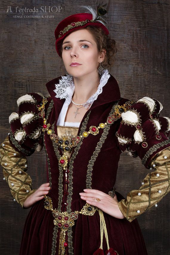 Renaissance dress Mary Stuart 16th century dress English Queen fashion. Royal gown. Historical costume !ONLY TO ORDER!