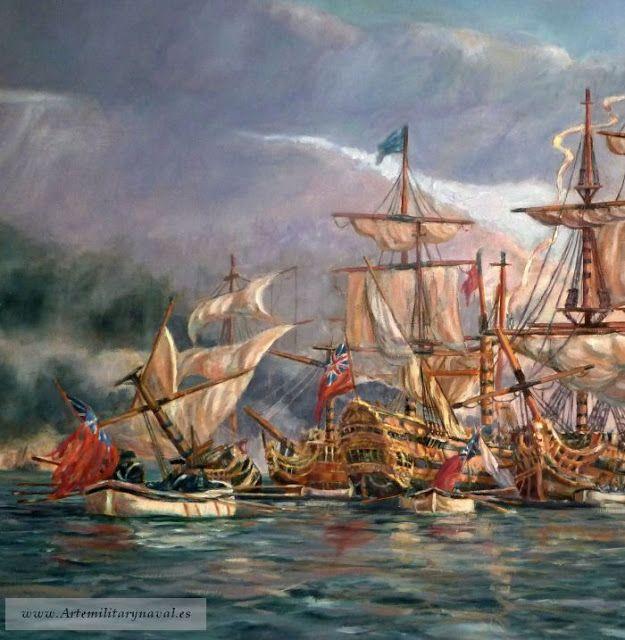 Blas de Lezo.Pintura Militar y Naval: Blas de Lezo contempla la victoria #BlasdeLezo