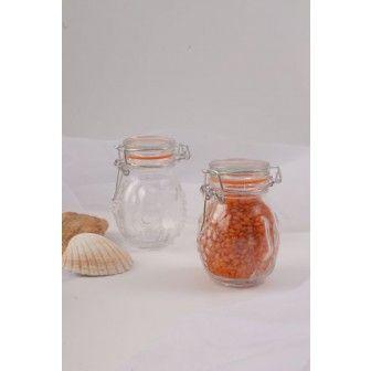 Borcan 100 ml cu capac sticla | Borcane pt cadouri marturii nunta
