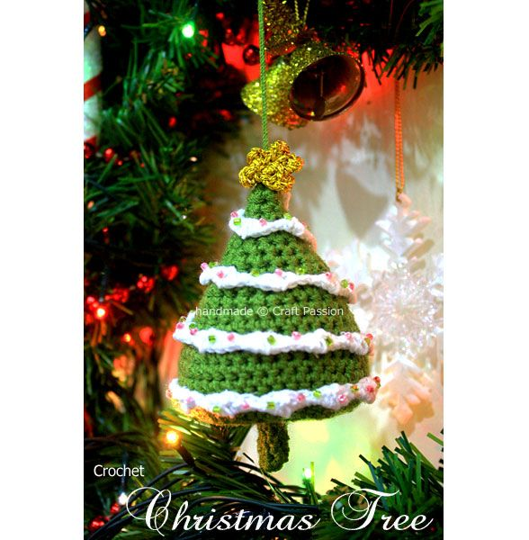 """free pattern : Christmas Tree ornaments by """"craft passion"""""""