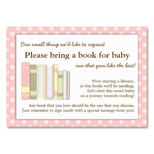 Baby Shower Insert Wording | Baby Shower Book Instead Of Card Verses