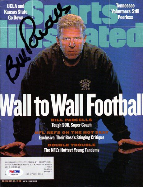 Bill Parcells Autographed Sports Illustrated Magazine New York Jets PSA/DNA