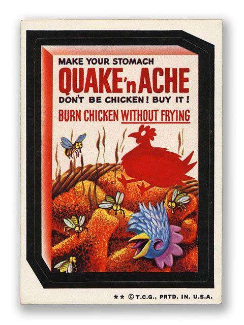 Topps Wacky Packages  4th Series 1973 QUAKE 'N ACHE COATING