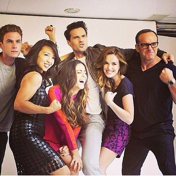 Agents of S.H.I.E.L.D cast. Look at those biceps on Ming-Na Wen.