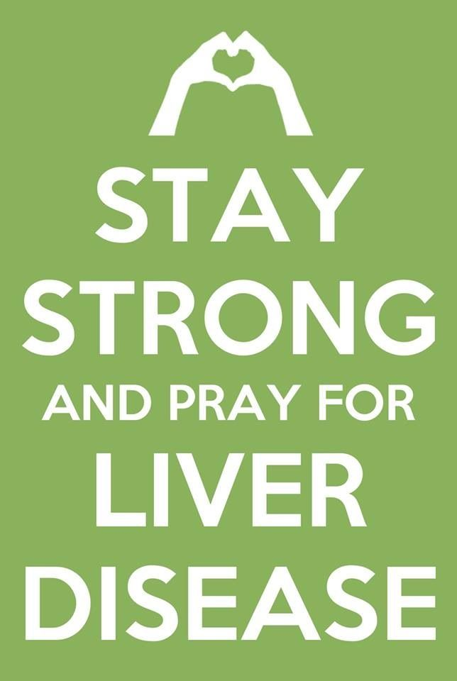 Pray for Liver Disease my uncle just lost his battle with it but I pray for all the others still suffering..