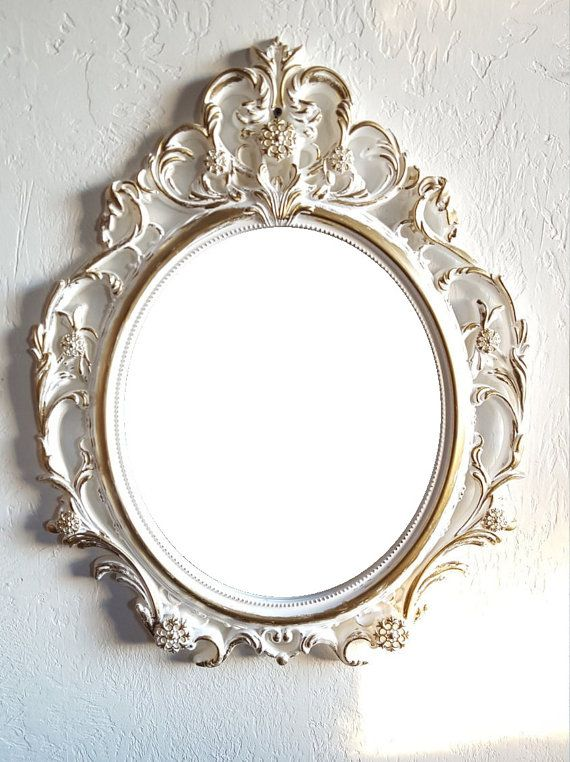Hey, I found this really awesome Etsy listing at https://www.etsy.com/listing/257185999/large-white-gold-wall-mirror-hollywood