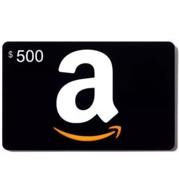 500 amazon gift card physical card with free shipping