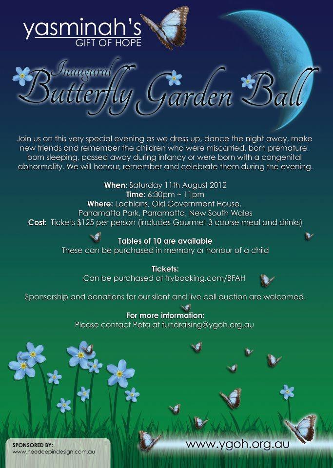 Butterfly Garden Ball via member group Yasminah's Gift of Hope www.ygoh.org.au