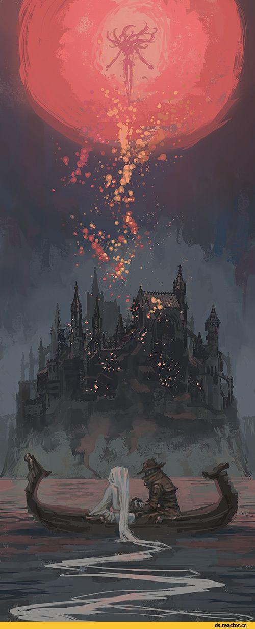 Dark Souls, fandoms, BB art, BloodBorne, Hunter (Bloodborne), BB characters