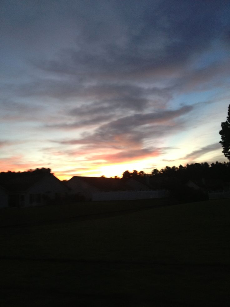 Sunset in South Carolina.