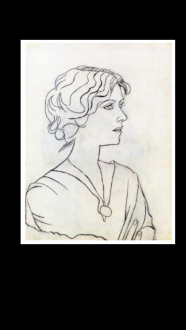"""Pablo Picasso - """" Portrait of Olga """", 1920 - Pencil - 62,2 x 45,7 cm (..)"""