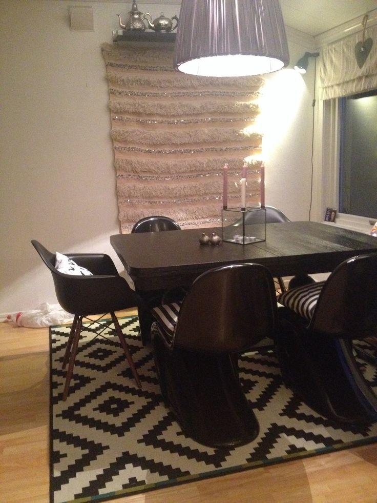 Panton in in The house , love those chairs , more pictures from my house is soon to be loaded
