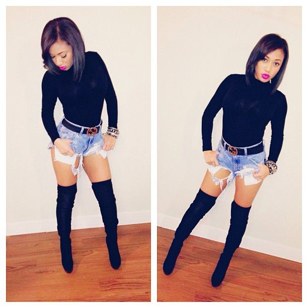This is Lo from Bad Girls Club. I would never wear those ...