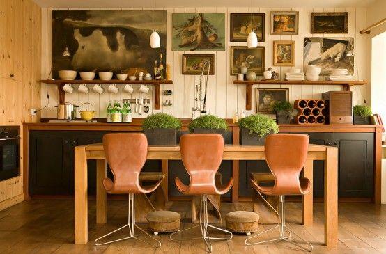 Stylish Kitchen Design In Warm Shades | DigsDigs