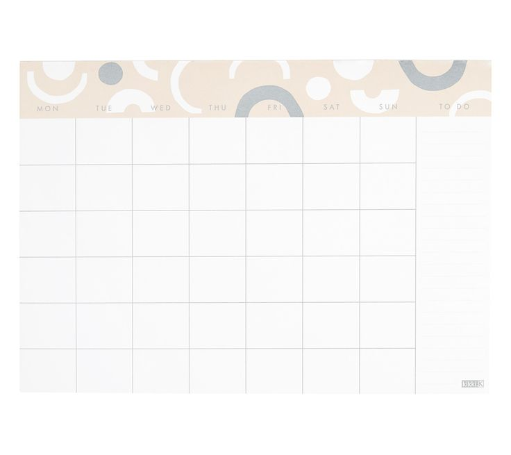 Forward plan your month in style with this A4 Monthly Planner Pad. Perfect for recording all of your upcoming events, appointments, day to day activities to view your month at a single glace. Also use the designated space to note and tick off your To Do List.