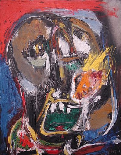 Asger Jorn (1914 - 1973) was a Danish painter, sculptor, ceramic artist, and author. He was a founding member of the avant-garde movement COBRA and the Situationist International.
