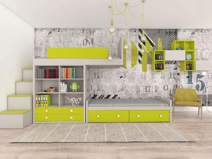 Bunk bed with bookcase - Color Dream by Colorato. www.colorato.pl