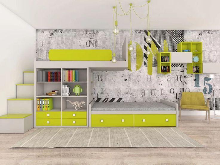 Bunk bed with bookcase - Color Dream by Colorato. www.colorato.pl