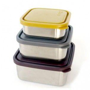 3 Lunchboxen of bewaar trommels. Lekdicht! 1x 530 ml 1x 950 ml 1x 1500 ml De trommel is gemaakt van # 304 (18/8) food-grade roestvrij staal. Deksels zijn gemaakt van niet-toxische LDPE # 4 plastic.