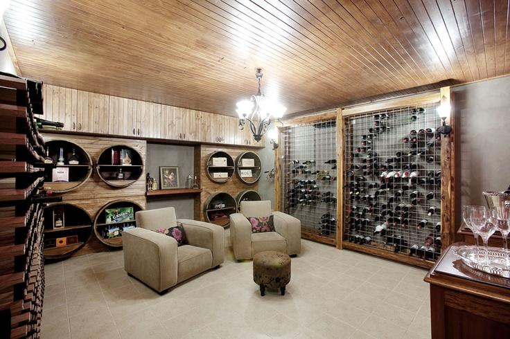A large wineroom/cellar - a secret retreat