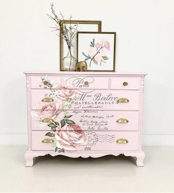 Rub On Transfers For Furniture Furniture Decals Redesign Etsy Floral Furniture Painted Furniture Black Painted Furniture