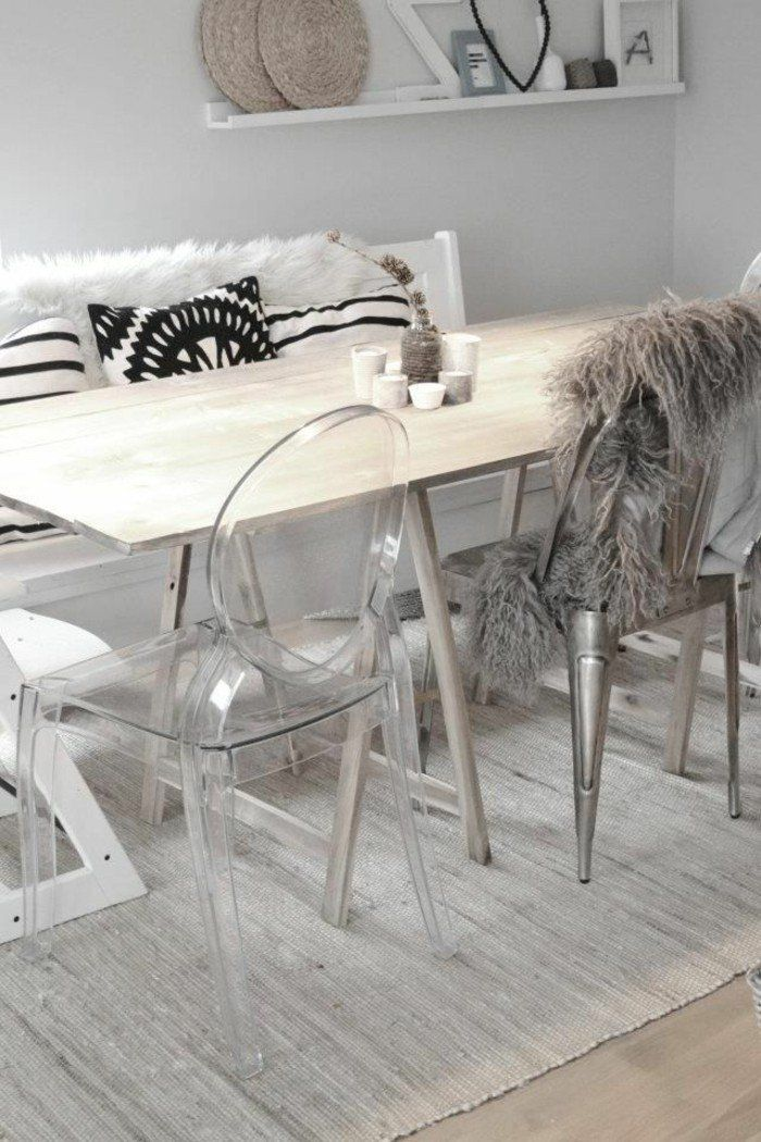 10 best ideas about chaise transparente on pinterest for Table salle a manger avec chaises