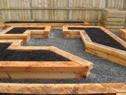 115 best images about raised garden beds on pinterest for Raised bed garden layout