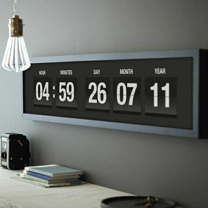 Les 25 meilleures id es de la cat gorie horloge r tro sur for Calendrier digital mural