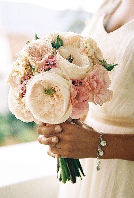 Cream and Blush Garden Rose Bouquet Gardens Garden roses and