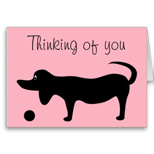 Dog Silhouette - Thinking of you card Template: pinterest.com/pin/7036943141372088