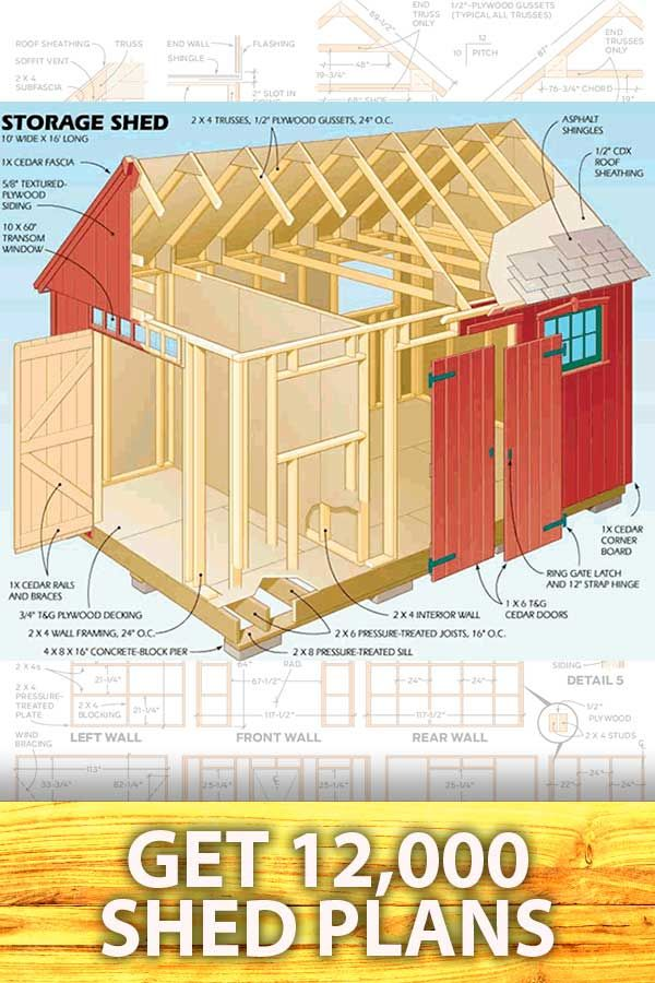 Download 12 000 Shed Building Plans Shed Plans Shed Building Plans Building A Shed