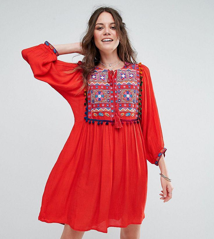 Glamorous Tall - Besticktes Hängerkleid mit Spiegelverzierung und Bommelborte - Rot Jetzt bestellen unter: https://mode.ladendirekt.de/damen/bekleidung/kleider/sonstige-kleider/?uid=2e6e6e49-2fdd-5c49-9b20-a5463c32077a&utm_source=pinterest&utm_medium=pin&utm_campaign=boards #sale #sonstigekleider #kleider #female #markenkleider #bekleidung