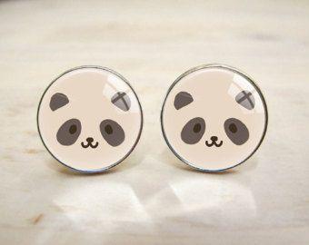 Panda visage symbole manchette, bouton de manchette mariage personnalisé, mariage cadeau bijoux de mode, pour hommes, Fans, cadeau de garçons d'honneur (LL-105)