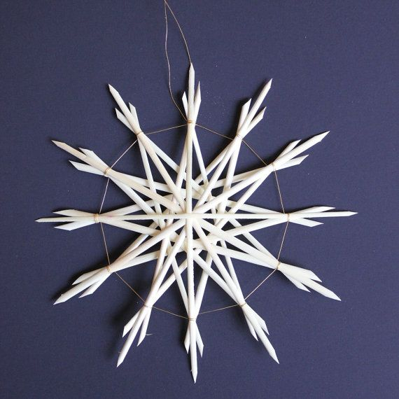 Straw Star Ornament Straw Christmas Ornament by ziezoDesigns, $6.00