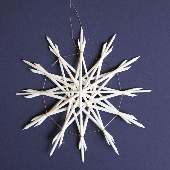 Straw Star Ornament Straw Christmas Ornament by ziezoDesigns, $6.00