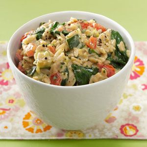 Garden Orzo Risotto Recipe  I made this last night and it was delicious!! I will definitely being adding this to my rotation :)