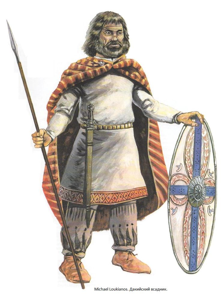 Most Dacians used only shields as a form of defense. Cavalry would be armed with a spear, a long La Tène sword and an oval shield. https://en.wikipedia.org/wiki/Dacian_warfare
