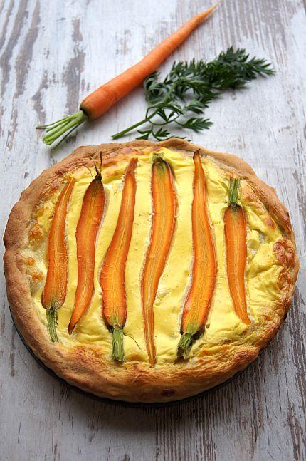 Carrot tart. Tarta z młodą marchewką #thermomix