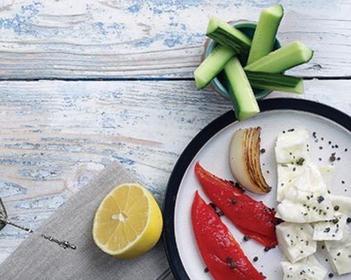 VISIT GREECE| Tomato,cucumber,olives,cabbage with salt & lemon #sympossio #greekrecipes