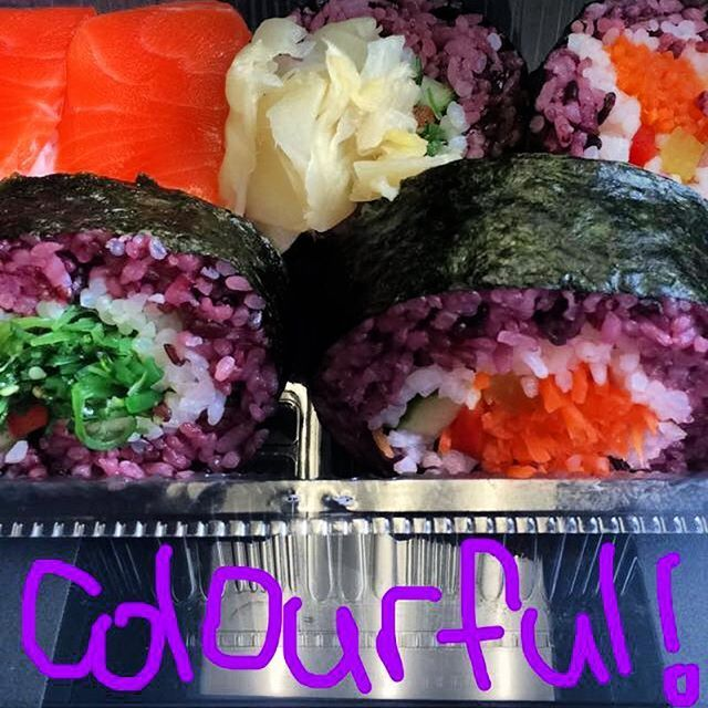 Love sushi lunch!