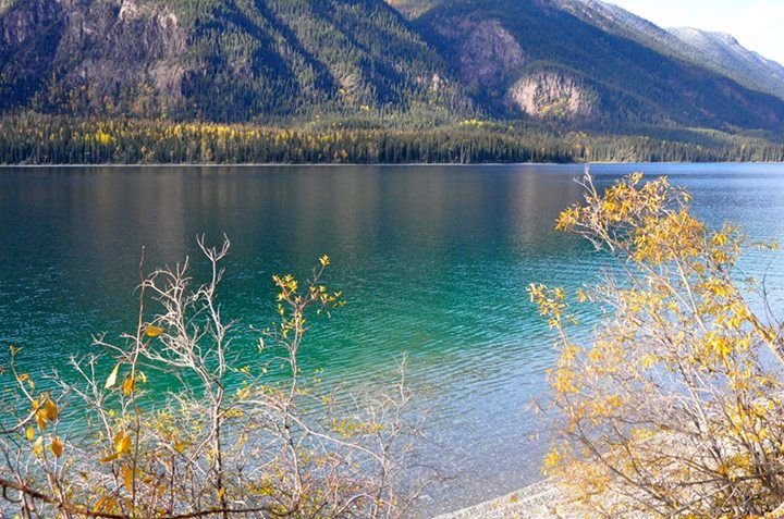 Colorful Muncho Lake on the Alaska Highway on a recent sunny day. (Sharon Nault Photo)