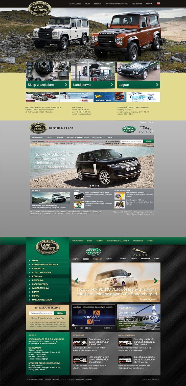 Propozycje nowego layoutu strony internetowej oraz sklepu firmy Land Serwis z Wieliczki