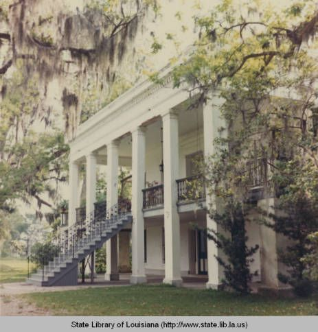 Belle Alliance Plantation in Assumption Parish Louisiana :: State Library of Louisiana Historic Photograph Collection Color photo, 1967. Belle Alliance Plantation in Donaldsonville, Louisiana, Assumption Parish. 33 room, two story manor house built in 1846 by Belgian aristocrat Charles Koch.