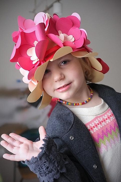 Fun DIY Floral Paper Hat for Kids